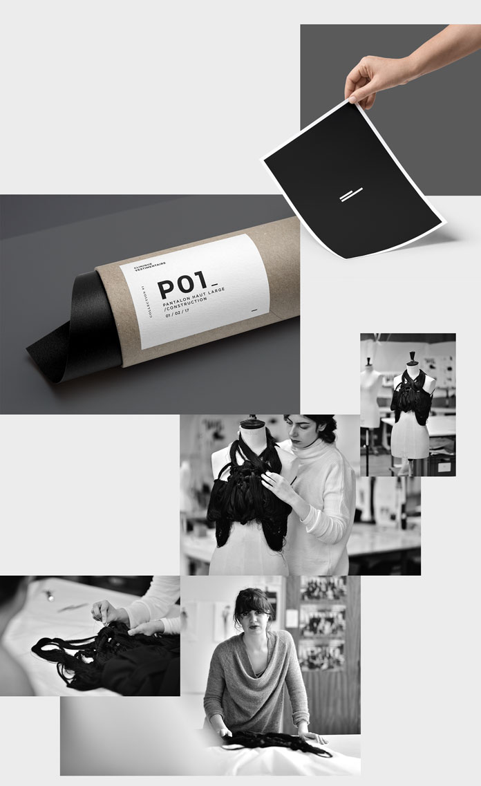 The brand identity reflects the modern style of the fashion brand.