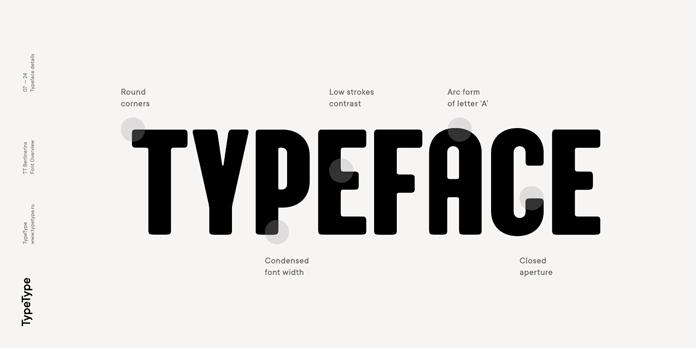 Typeface details.