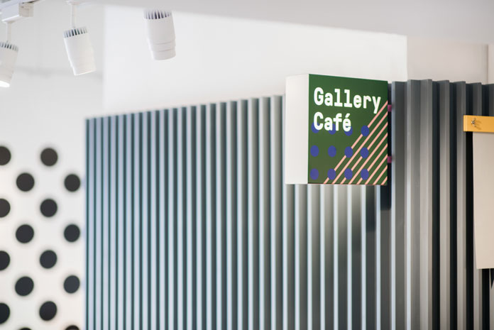 Museum store and cafeteria signage.