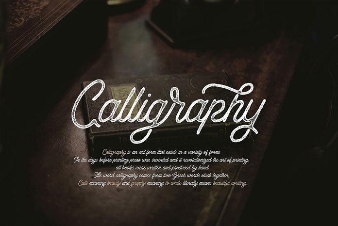 Calligraphy is an art form that exists in a variety of forms.