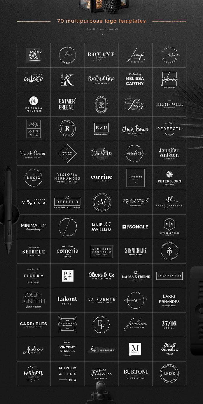70 elegant logos.