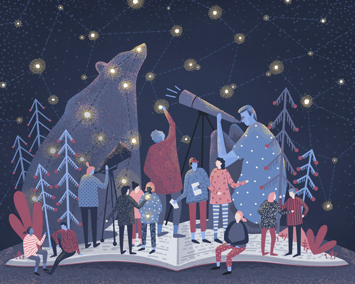 Abbey Lossing Illustrations, Astronomers
