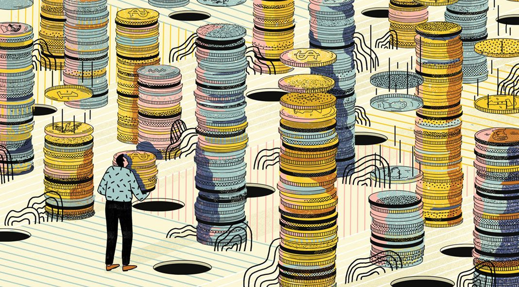 Abbey Lossing Illustrations, Signs of Strain in the Stock and Bond Love Affair