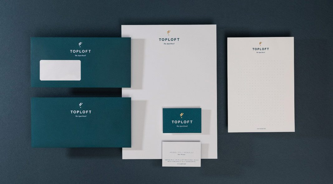 Branding, art direction, photography, and interior concept by ADDA studio for the Toploft apartment hotel