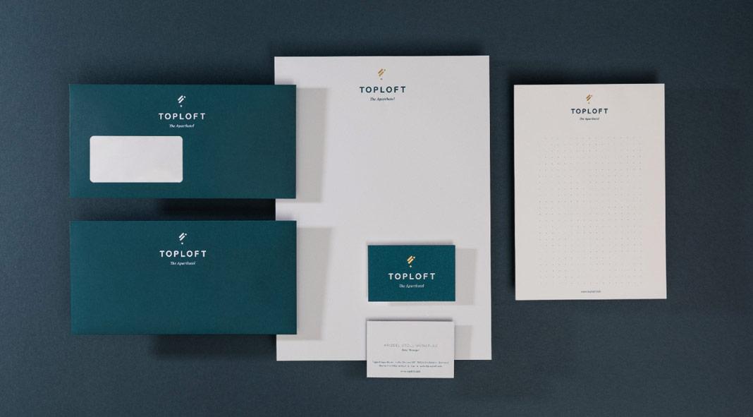 Toploft Apartment Hotel Branding By Adda Studio