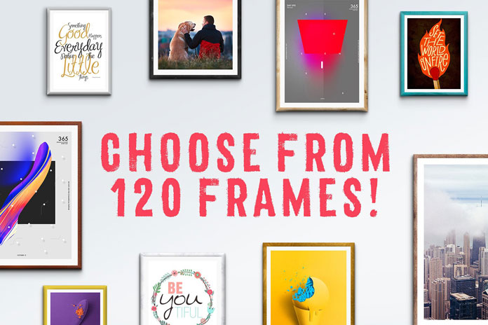 Choose from 120 frames.