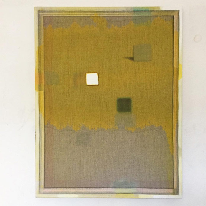Christoph Schellberg, Unprimed with Yellow and something, 2016