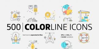 Color line icons