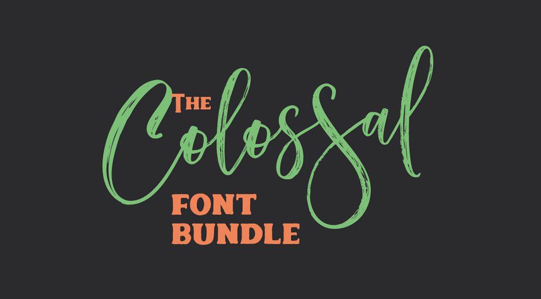 Colossal Font Bundle High Quality Fonts.