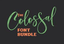 Colossal Font Bundle High Quality Fonts.