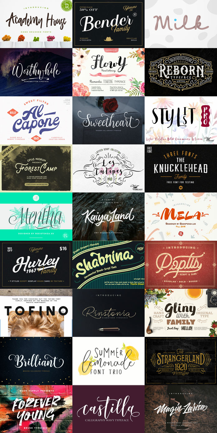Colossal font bundle – 27 high-quality fonts.