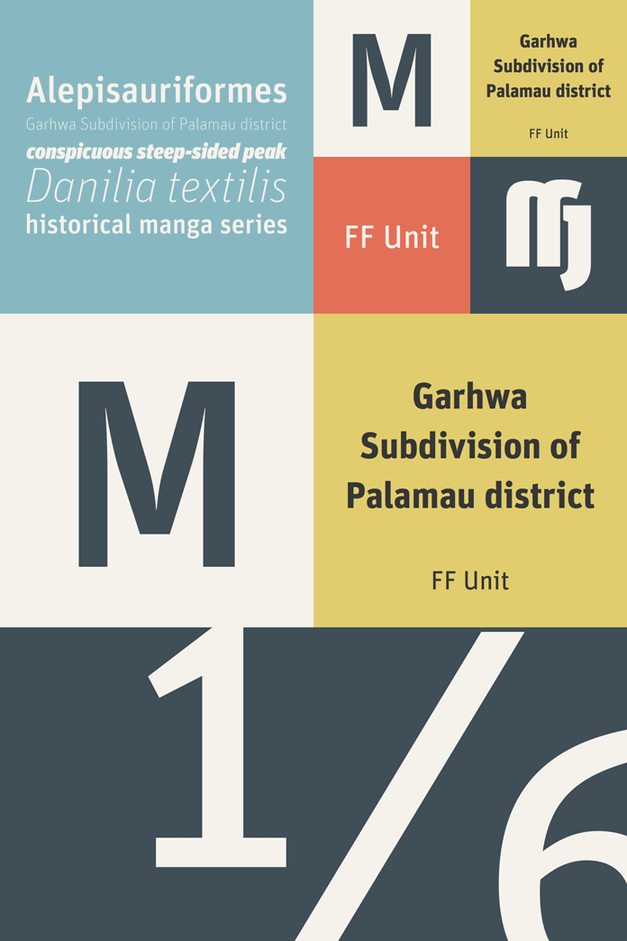 FF Unit Pro font family from FontFont.