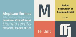 FF Unit font family from FontFont.