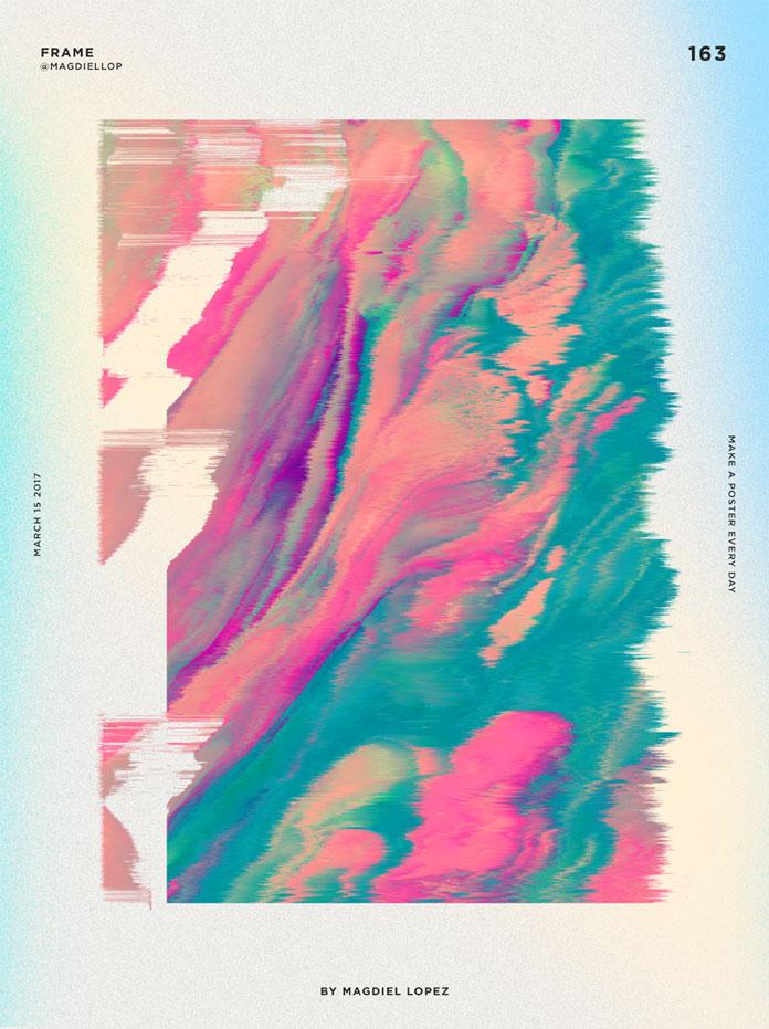 Magdiel Lopez poster design, Frame