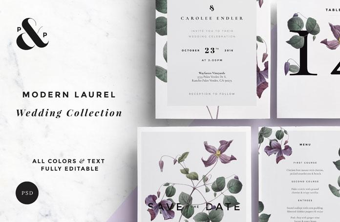 Modern Laurel Wedding Collection