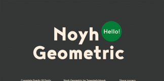 Noyh Geometric font family from Typesketchbook.