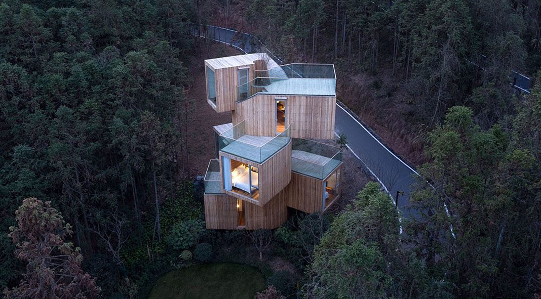 Qiyunshan Tree House by Bengo Studio, Qiyunshan Tree House by Bengo Studio.