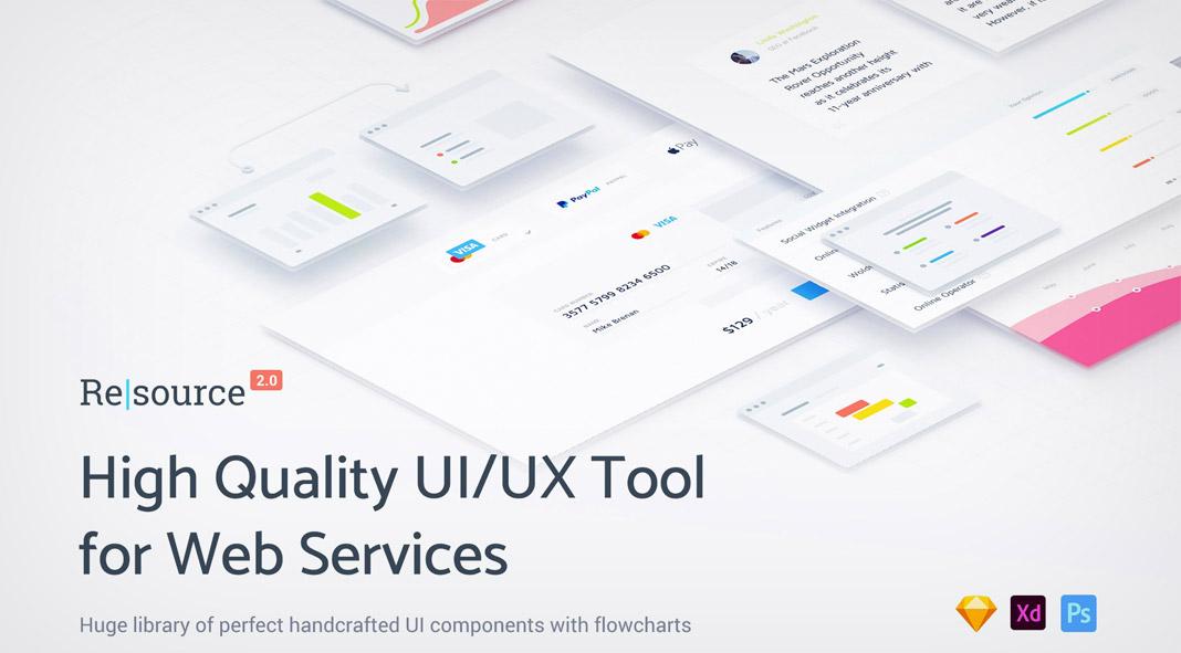 Resource web design ui ux tool kit download for Website planning tool
