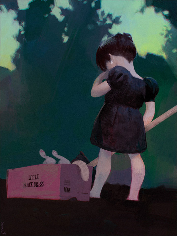 Sergey Kolesov, Little black dress.