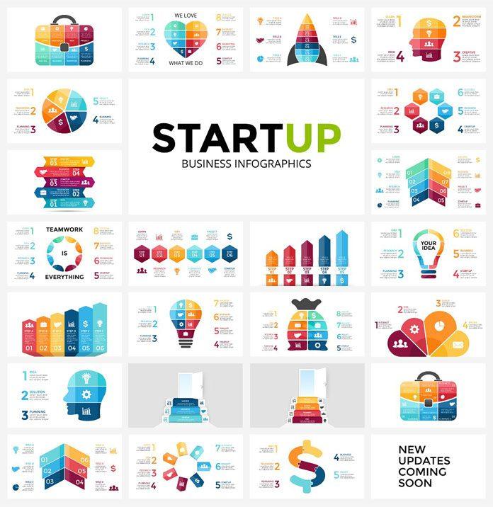 Startup infographics.