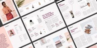 Style report magazine template for Adobe Photoshop.