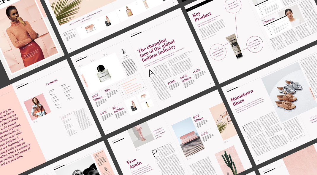 style report magazine template for adobe indesign. Black Bedroom Furniture Sets. Home Design Ideas