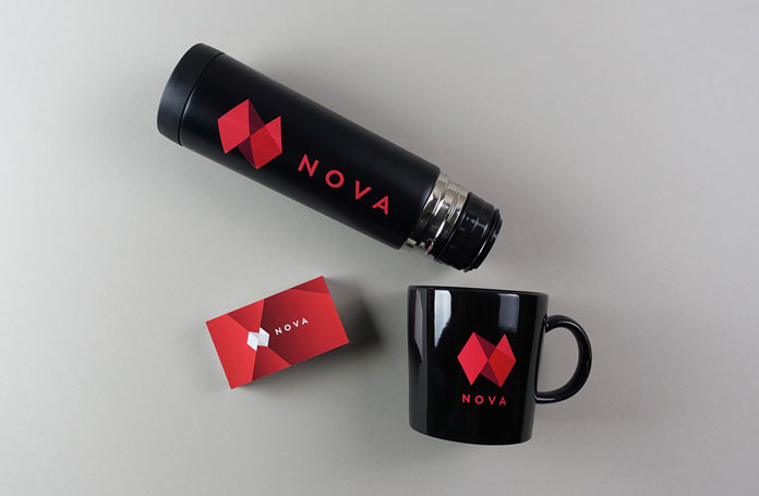 TRÜF, NOVA packaging and promotional items.