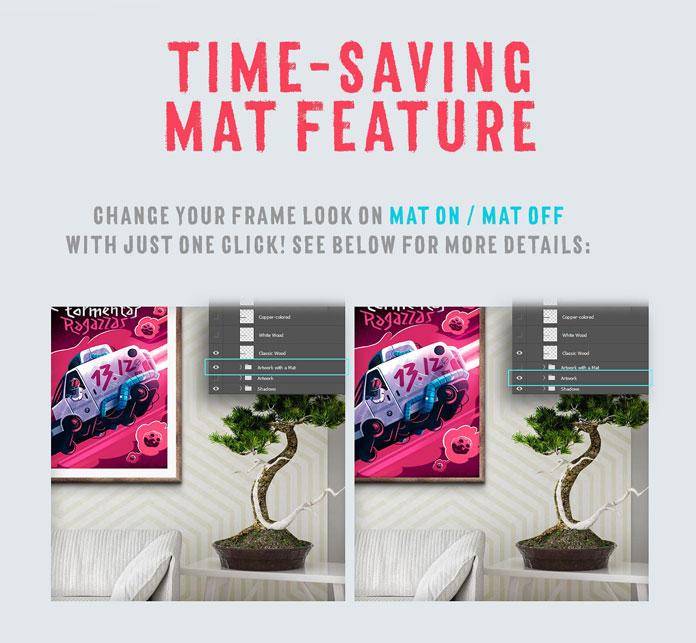 Time saving mat feature.
