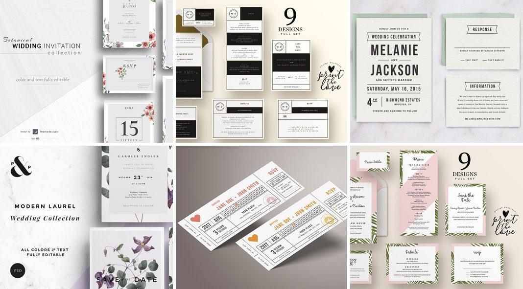 Top Wedding Invitation Templates