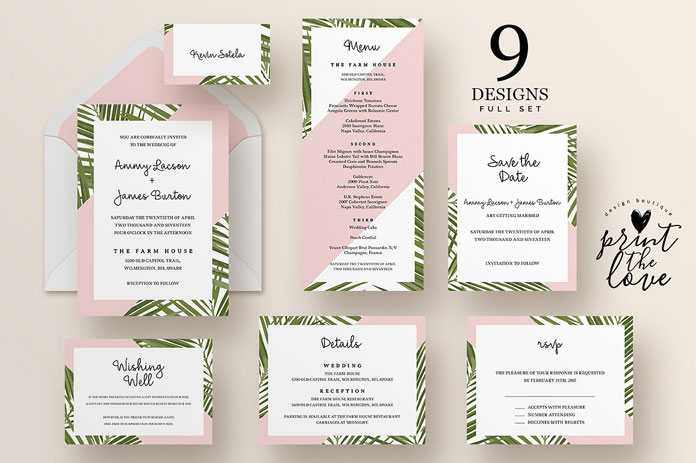 Wedding Invitation Suite Templates: Top Wedding Invitation Templates