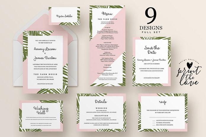 Wedding Invitation Suite - Tropico