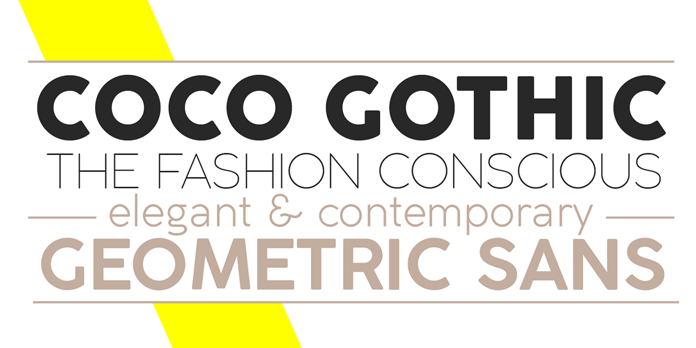 Coco Gothic font family from Zetafonts.