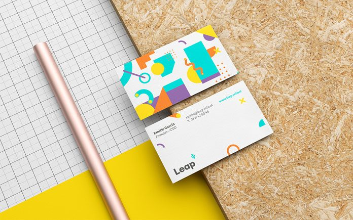 Leap brand identity by Menta Picante.