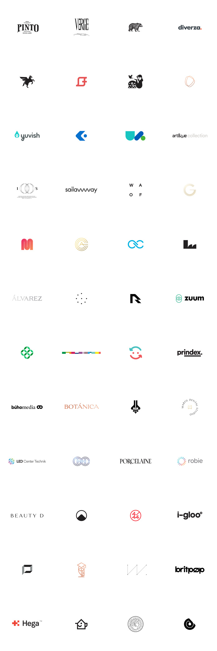 Logos from 2016 - 2017 by studio Face.