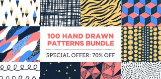 100 Seamless Hand Drawn Patterns