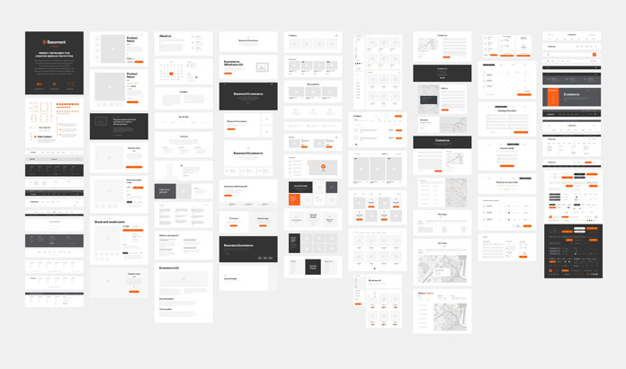 200 ready-to-use web prototype elements.