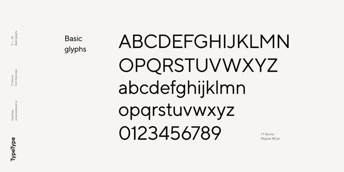 TT Norms, Basic glyphs