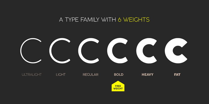Coco Gothic, a type family with 6 weights.