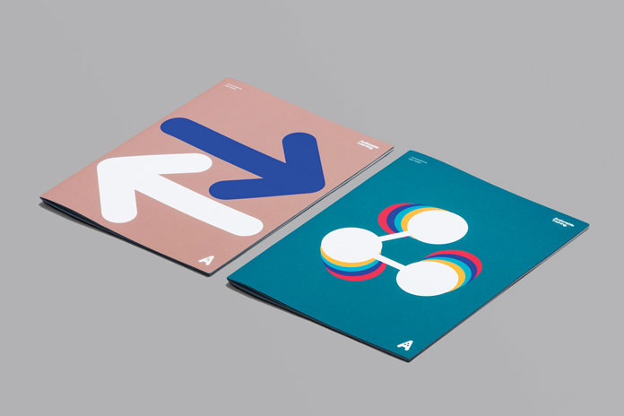 Identity system based on a vivid iconography.