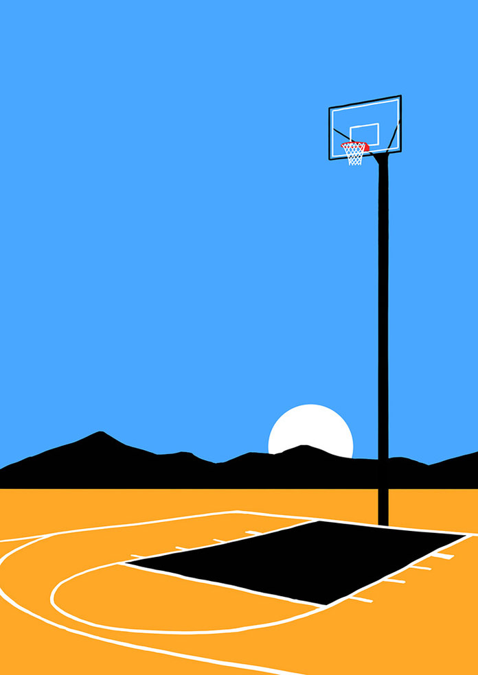Andrey Kasay, Basketball court