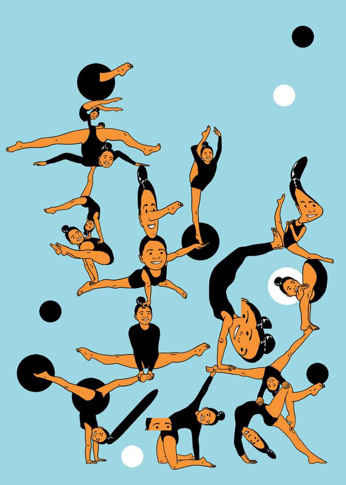 Andrey Kasay, Gymnastic feats