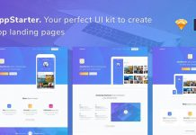 AppStarter - UI Kit for App Landing Pages.