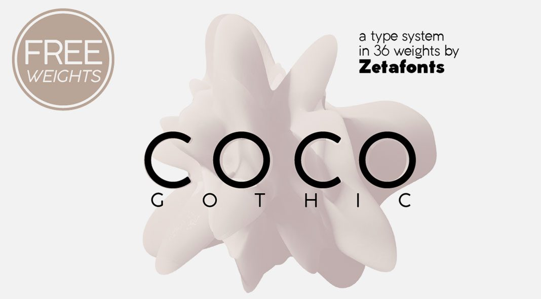 Coco Gothic font family from Zetafonts