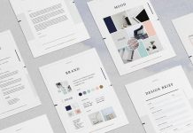 Design collection - brochure print templates from Moscovita.