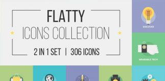 Flatty Icons 2 in 1 Collection