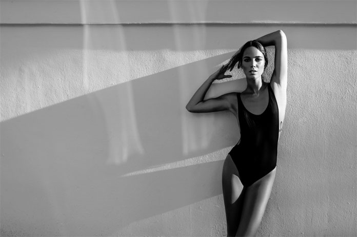 Rich Meade, Black and white swimwear shoot.