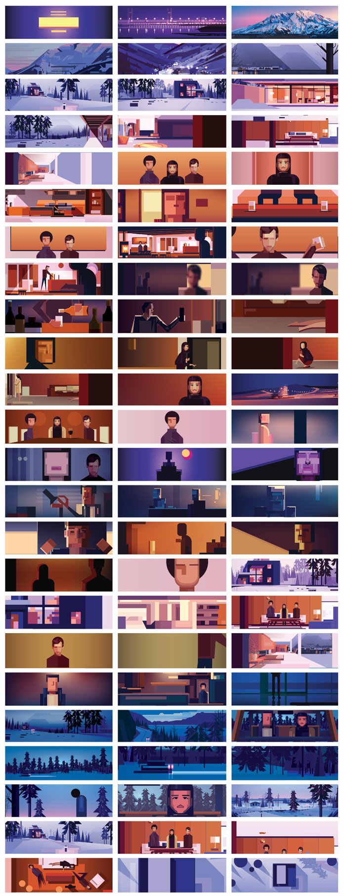 Stills from the Fassine 'Gold' music video by James Gilleard and Steve Kirby.