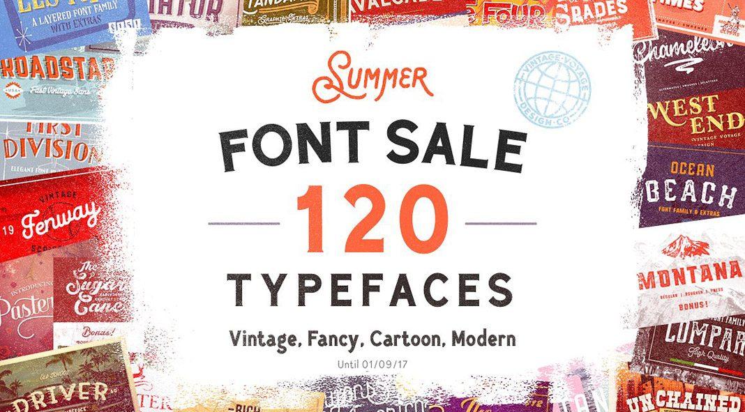 Summer font sale.
