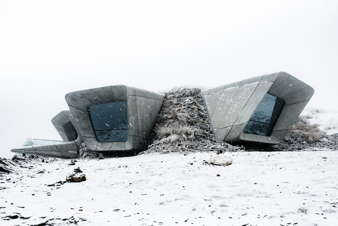 Tom Blachford photography, Messner Museum Kronplatz designed by Zaha Hadid Architects.