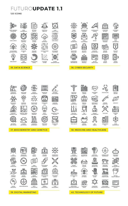 Futuro line icons - Update 1.